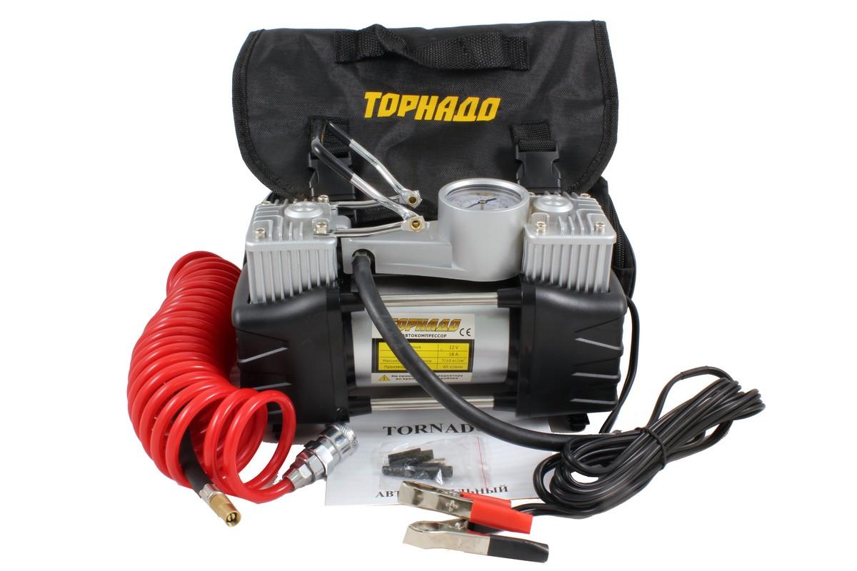 Компрессор Tornado АС-800-1 (2х поршневой, металл, 60 л/мин)